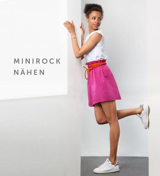Das Schnittmuster Minirock ist abgebildet.