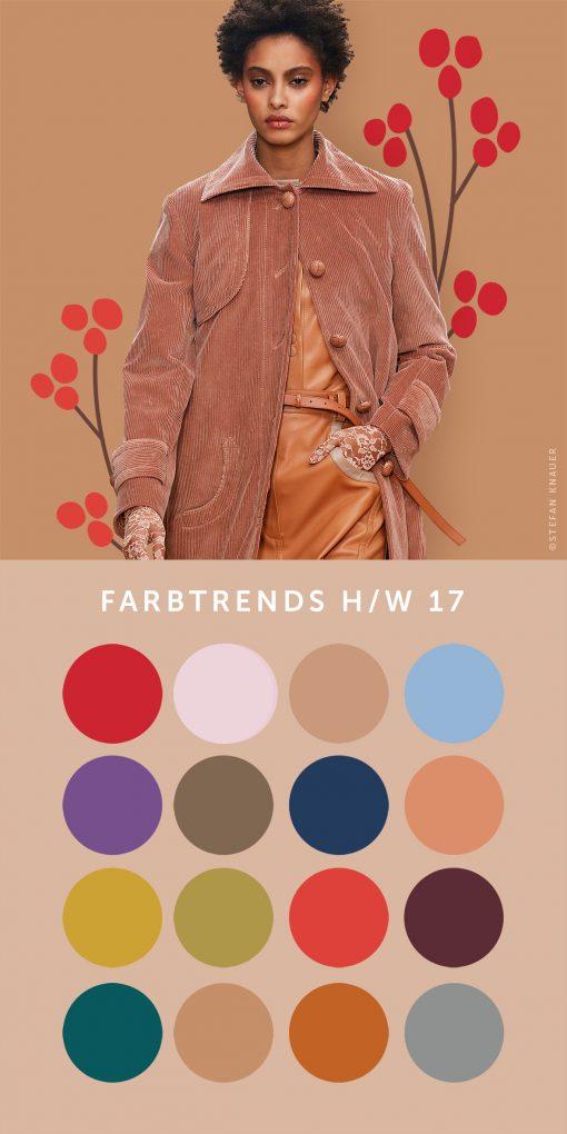 Übersicht der Farbtrends H/W 2017