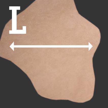 Ein Lederstück zeigt die Laufrichtung.